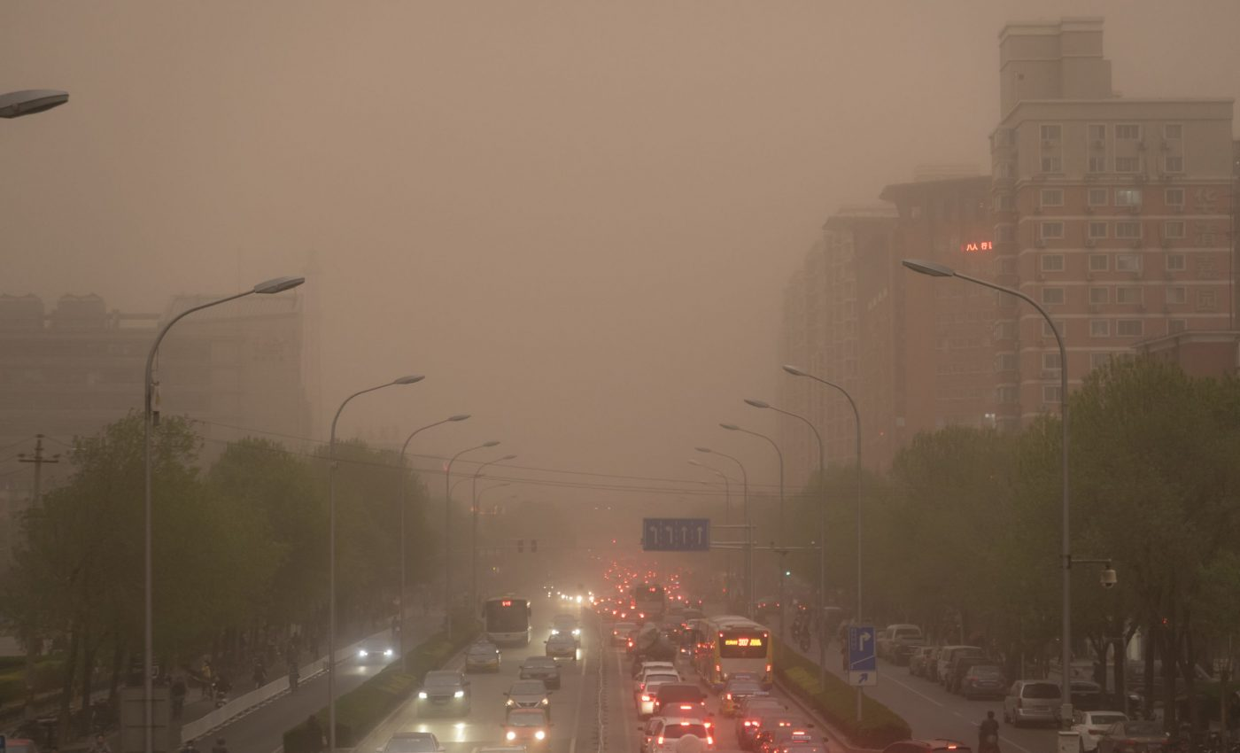 Smog and Sand Over Beijing
