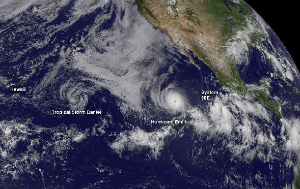 Tropical Storm Emilia off Baja California