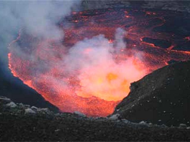 Eruption of Karthala Volcano