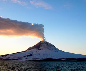 Eruption of Augustine Volcano, Alaska