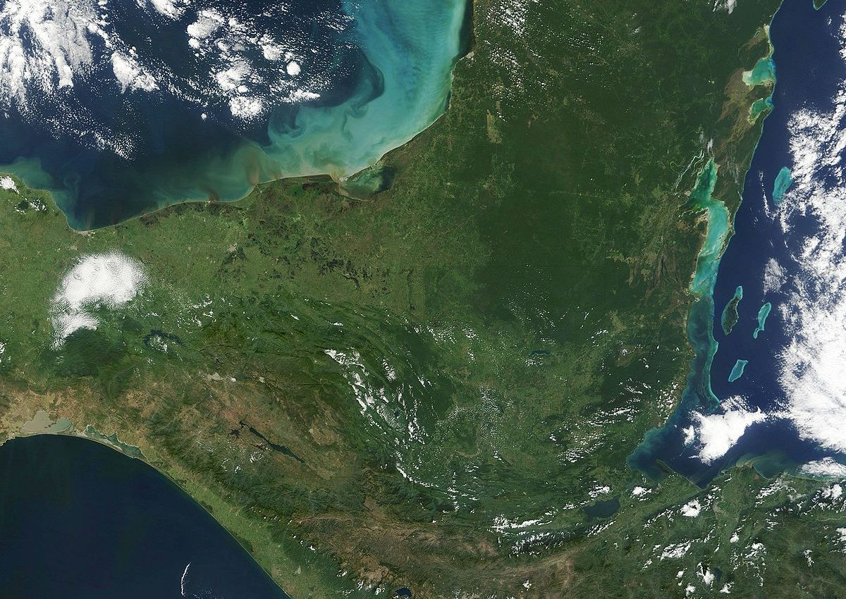 Fires in Yucatan and Central America