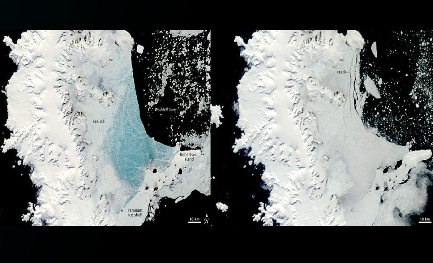 Changing Sea Ice Along Antarctic Peninsula
