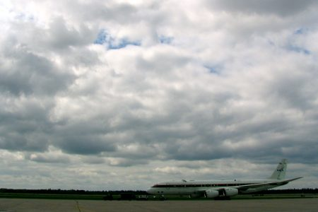 NASA's DC-8 Awaits Takeoff