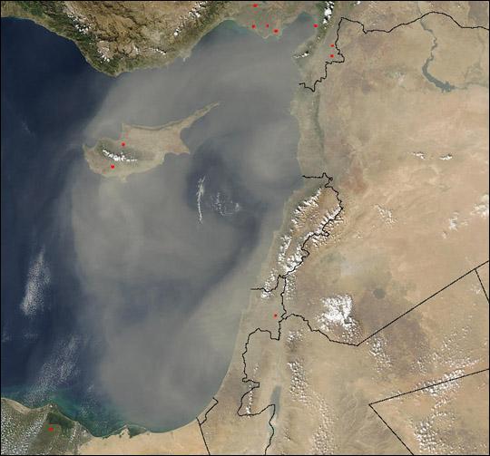 Dust Storm on Cyprus
