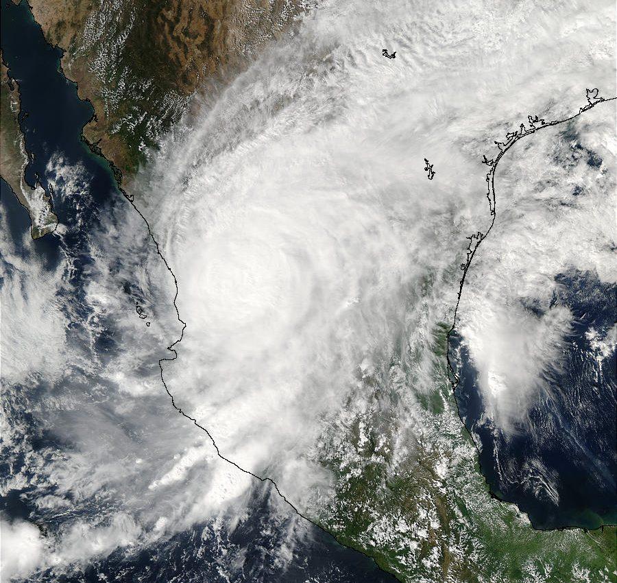 Hurricane Kenna over Mexico