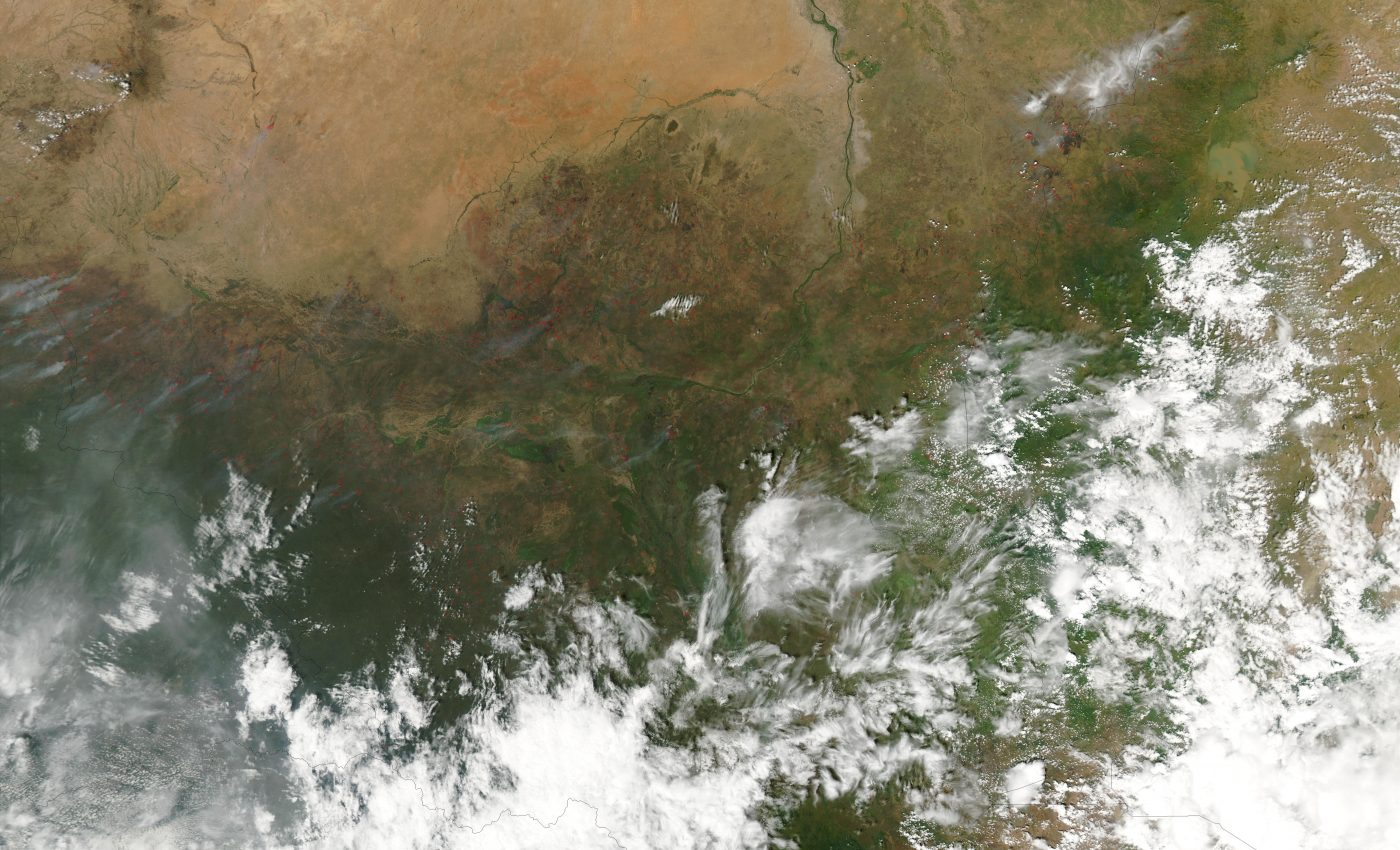 Fires in Southern Sudan