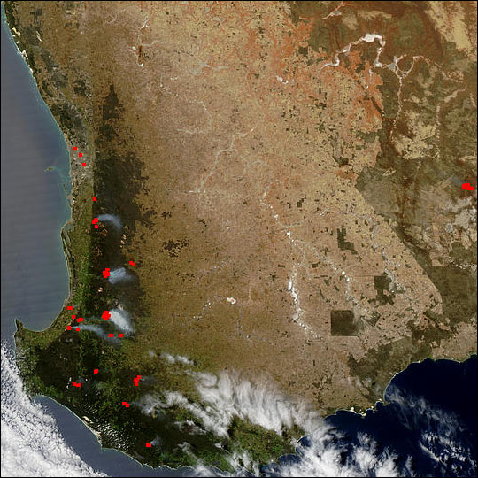 Spring Fires in Southwest Australia