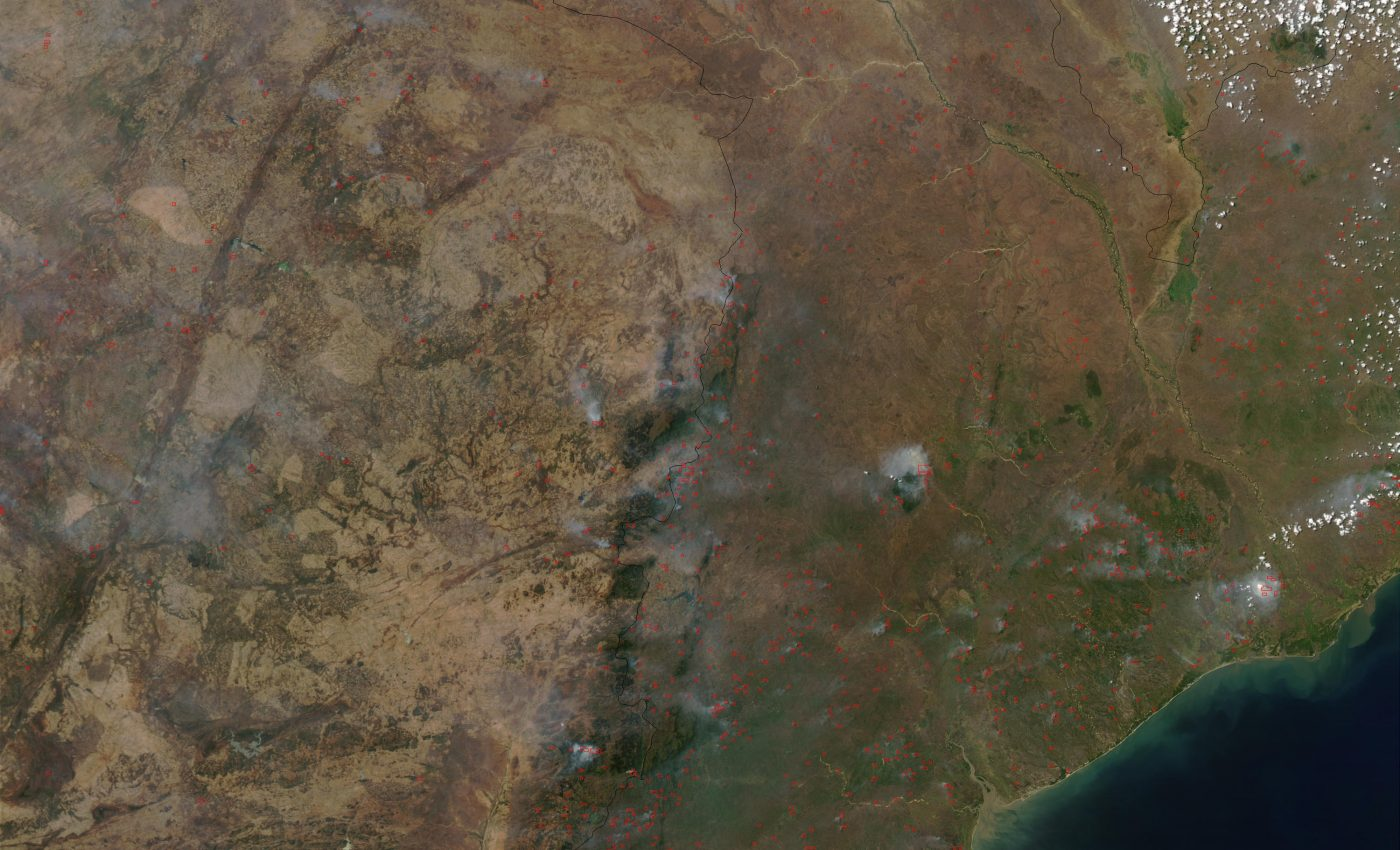 Fires in Mozambique and Zimbabwe