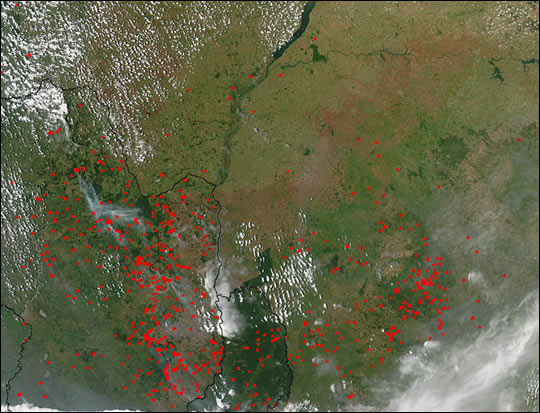 Biomass Burning in Paraguay