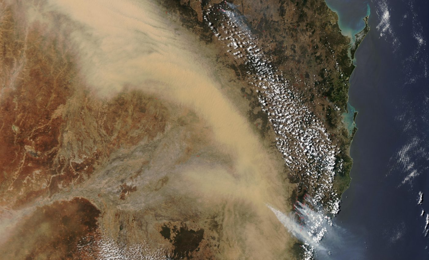 Dust Storm over Eastern Australia