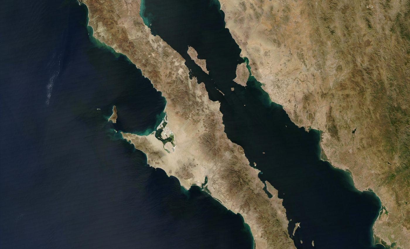 Baja Peninsula in Western Mexico