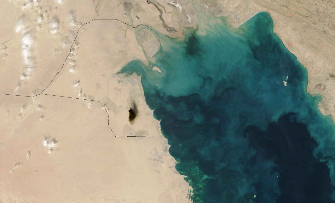 Black Smoke from Oil Fire in Kuwait