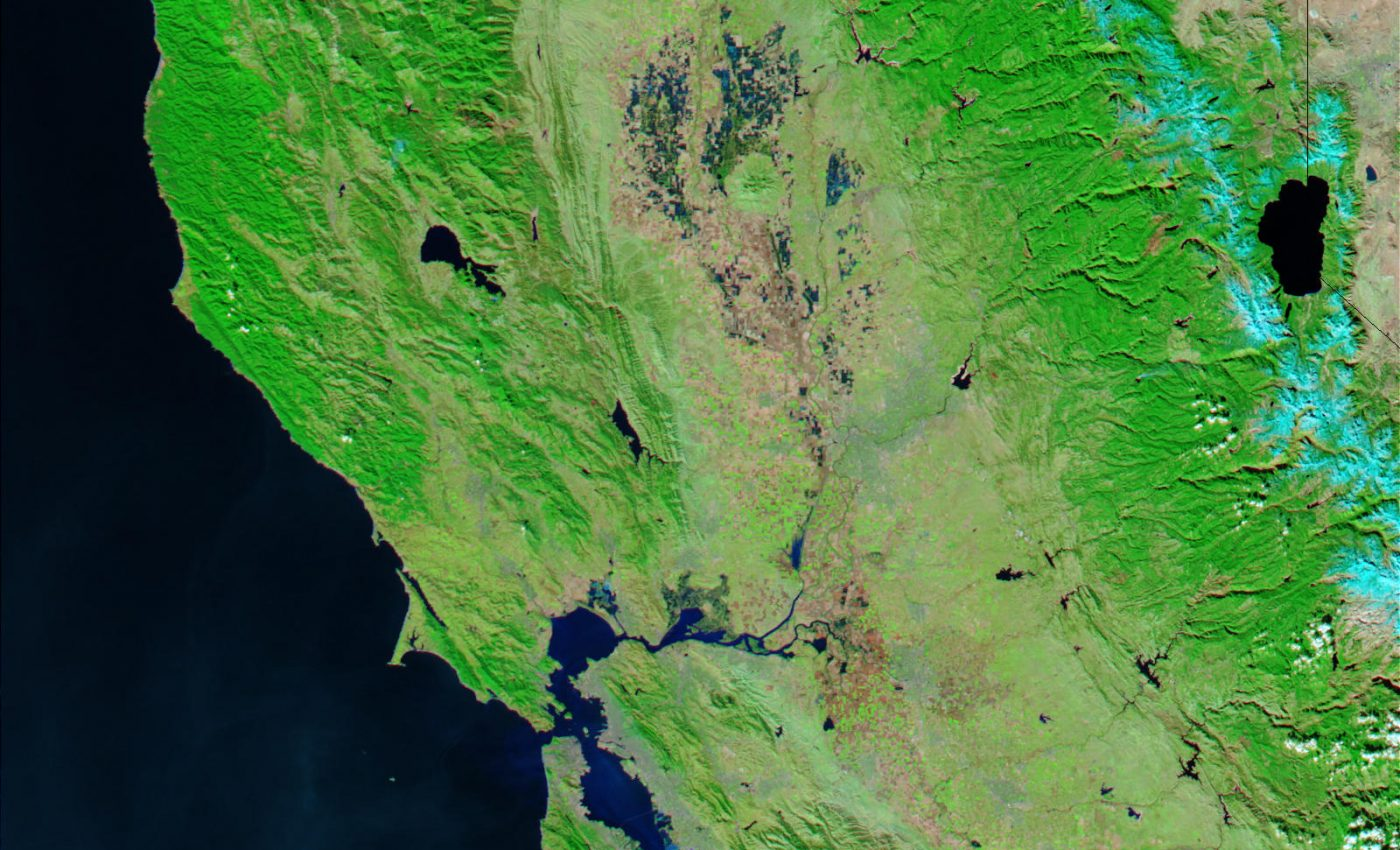 Northern California Before Flooding