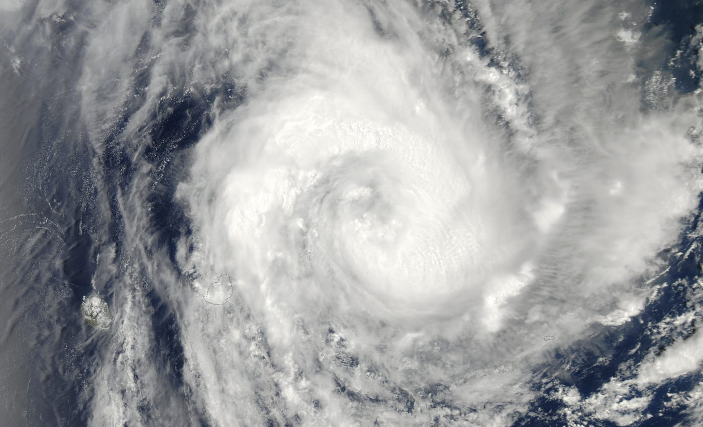 Tropical Cyclone Crystal (05S) Northeast of Mauritius, Indian Ocean