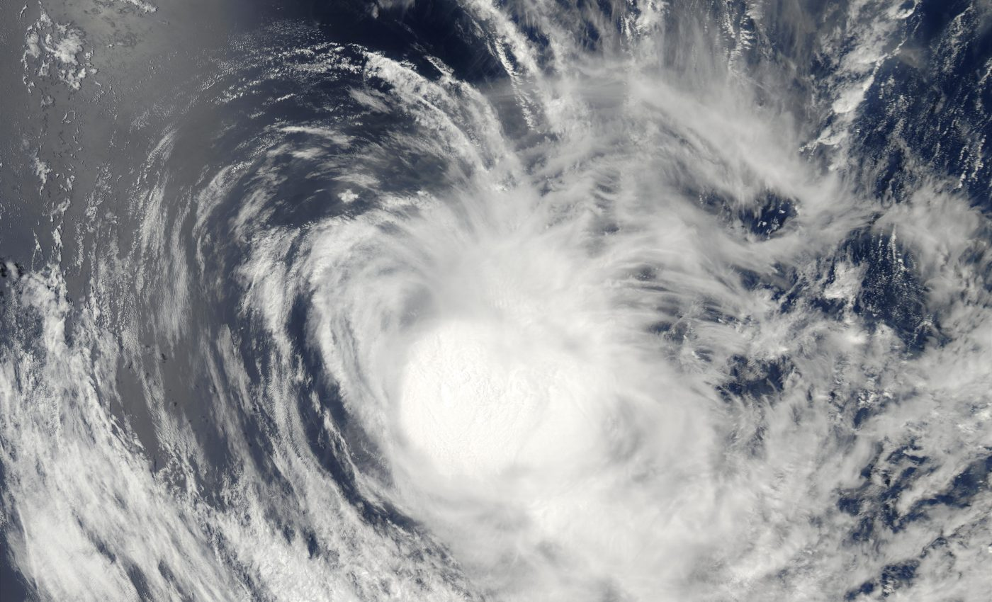 Tropical Cyclone Crystal (05S) Southeast of Mauritius and LA Reunion, Indian Ocean