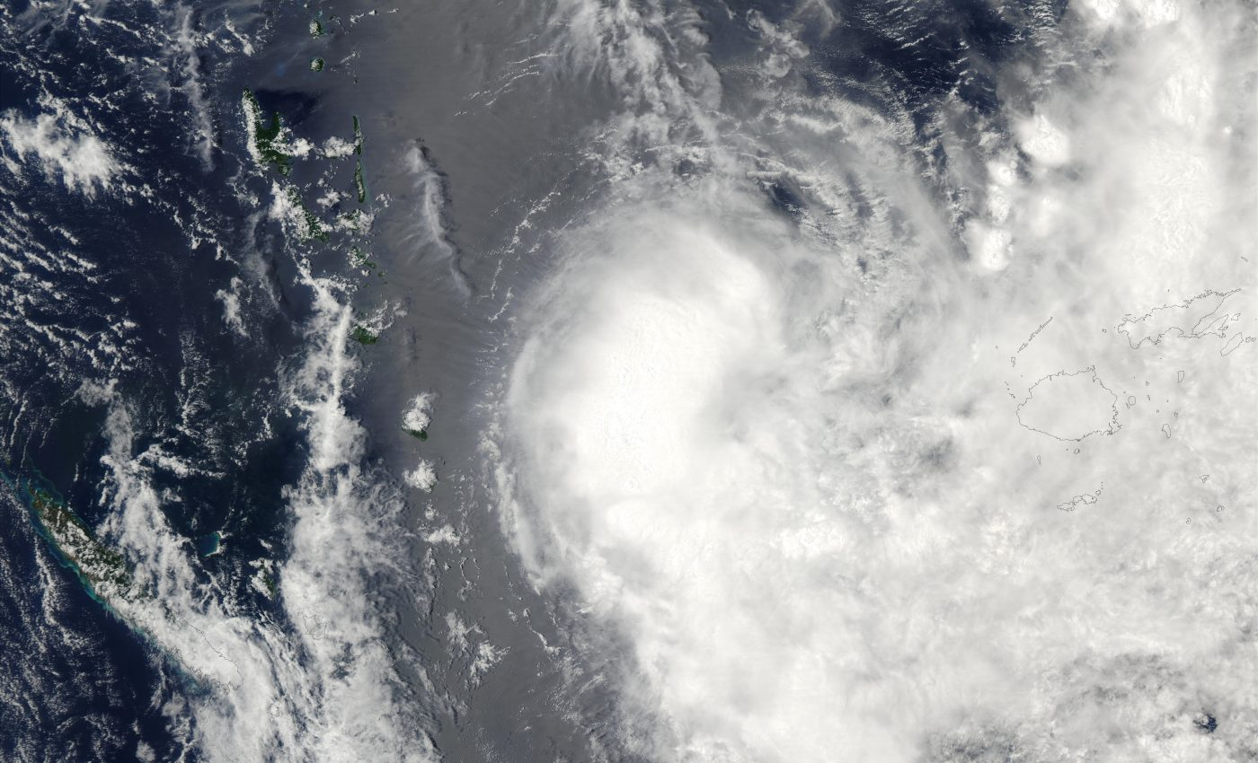 Tropical Cyclone Zoe (06P) West of Fiji Islands, South Pacific Islands