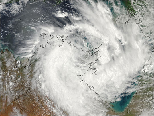 Low-Pressure Storm System over Australia