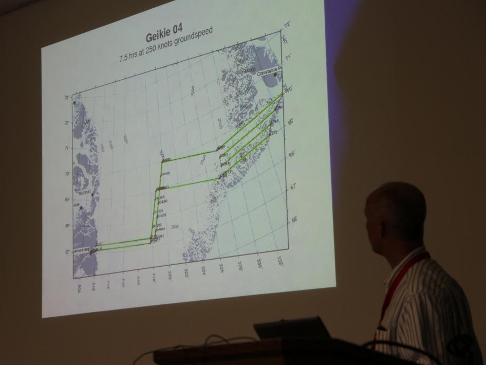 Geikie Flight Plan Map
