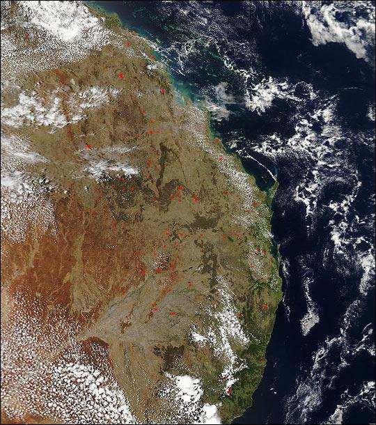 Biomass Burning in Eastern Australia