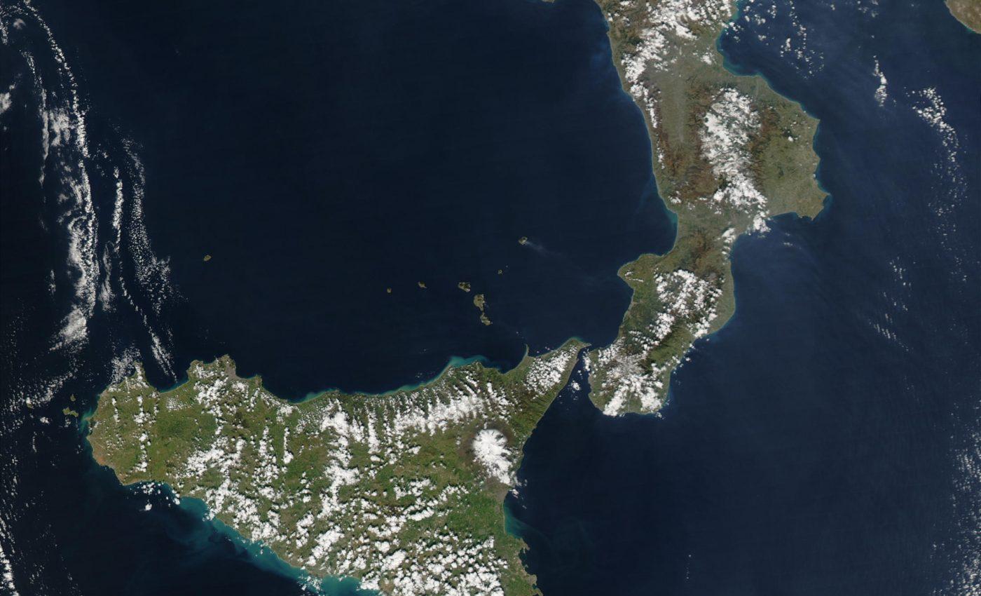 Eruption of Stromboli Volcano Italy
