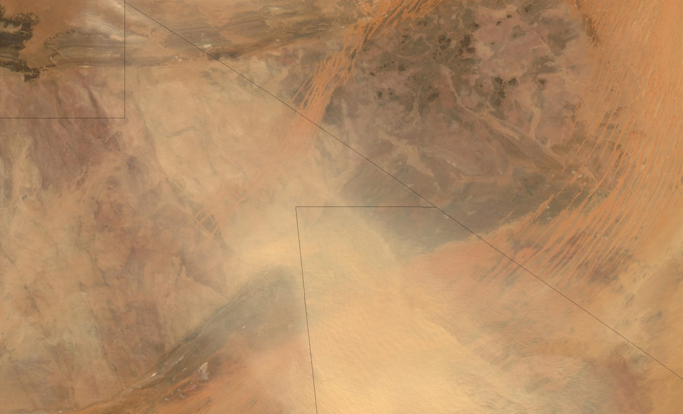 Dust Storm in Mali and Mauritania