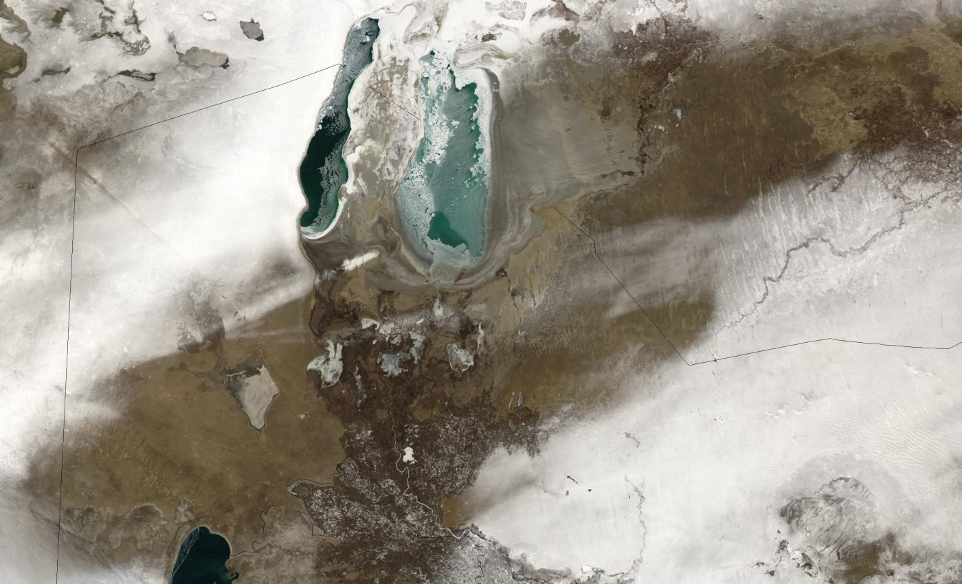 Snow Across Kazakhstan and Uzbekistan