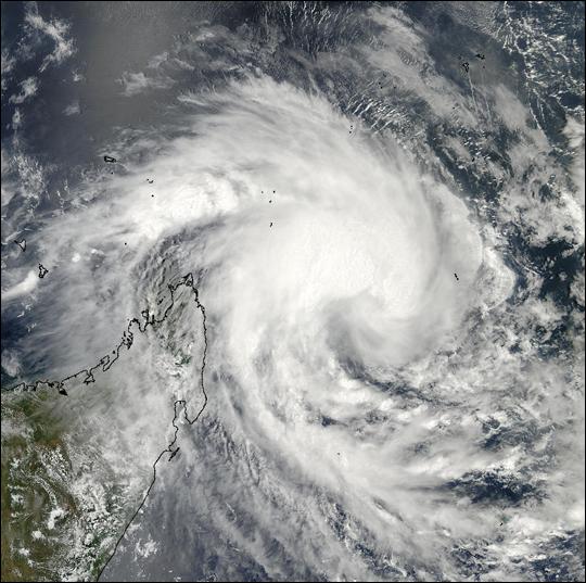 Cyclone 16S Off Madagascar