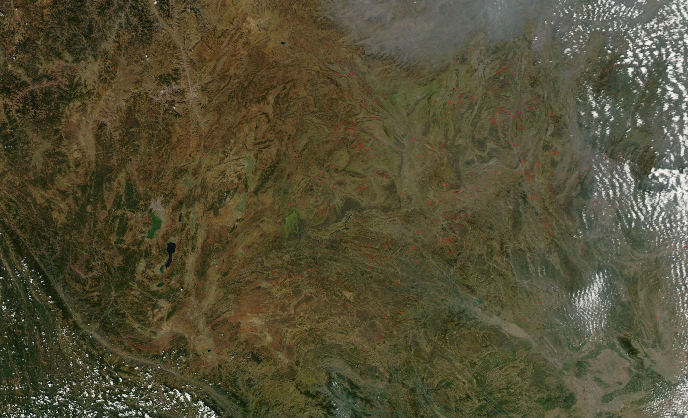 Fires in Southcentral China