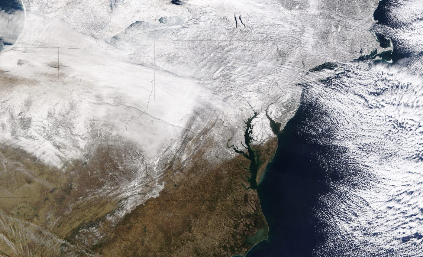 Snow Across Eastern United States