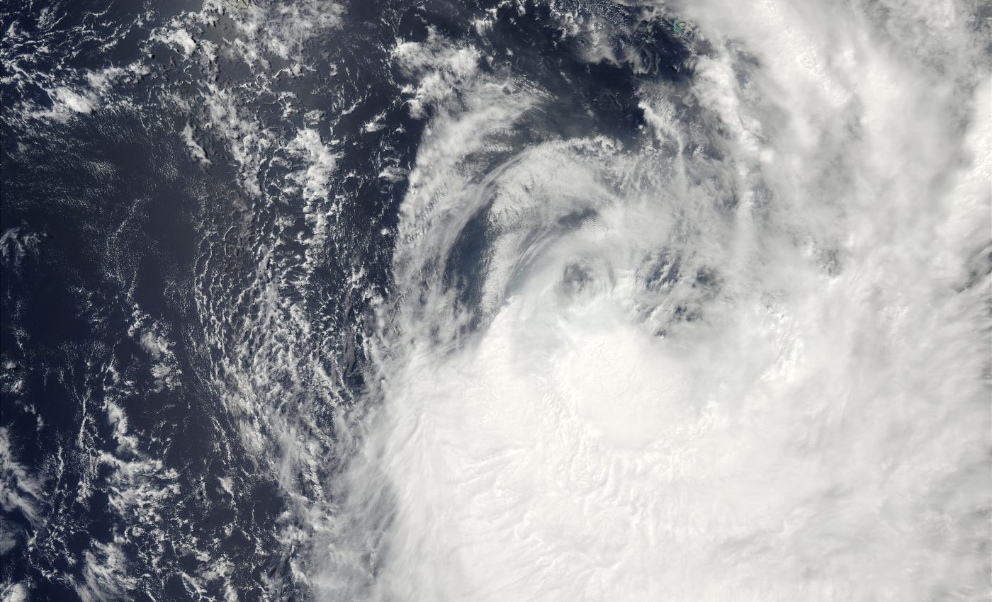 Tropical Cyclone Gerry (16S) off Reunion and Mauritius