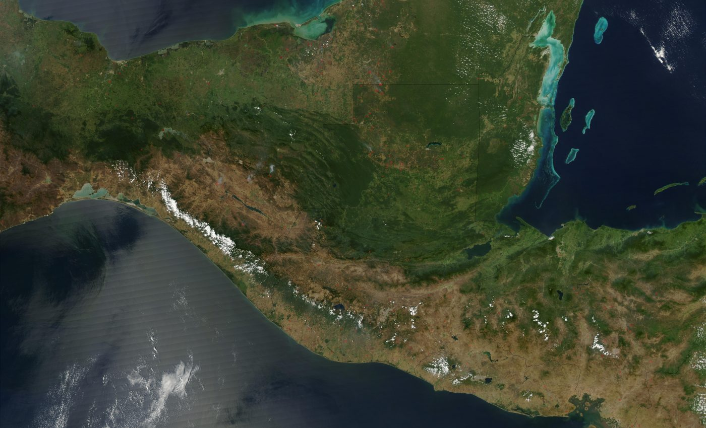 Fires in Central America and Southern Mexico