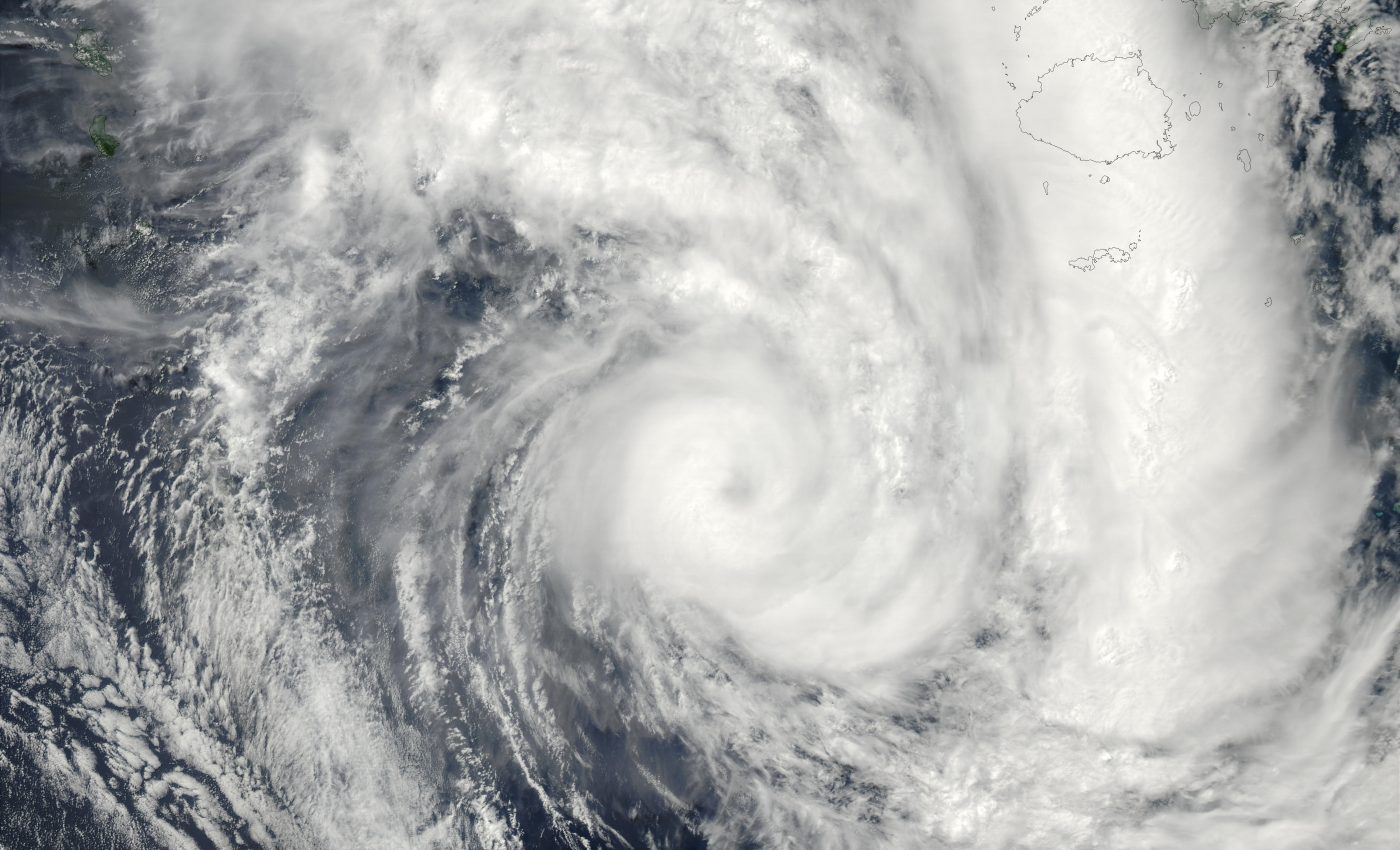 Tropical Cyclone Eseta (25P) off Fiji, Pacific Ocean