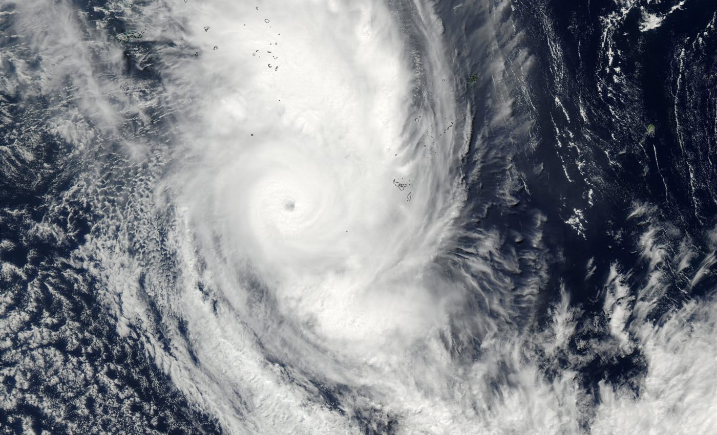 Tropical Cyclone Eseta (25P), South of Fiji, South Pacific Ocean