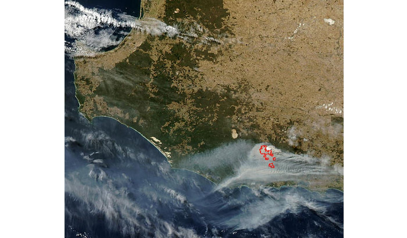 Forest Fire in Southwest Australia