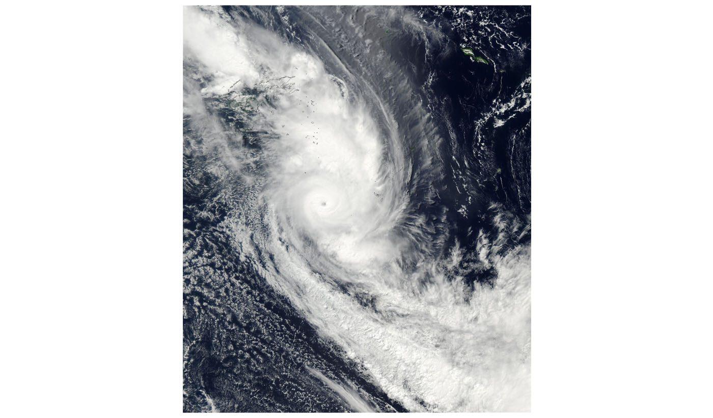 Tropical Cyclone Eseta off Fiji
