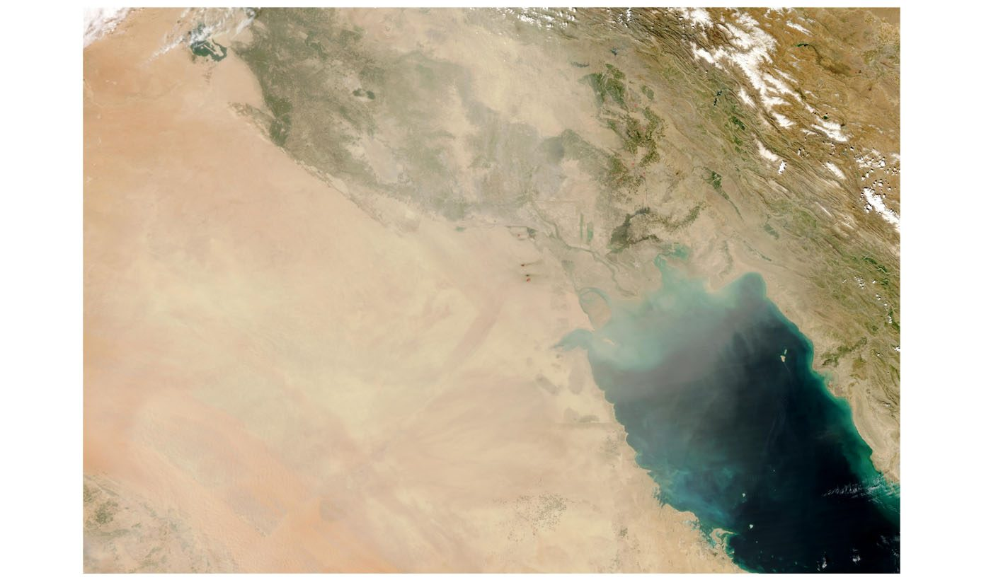 Dust Storm in Iraq and Kuwait