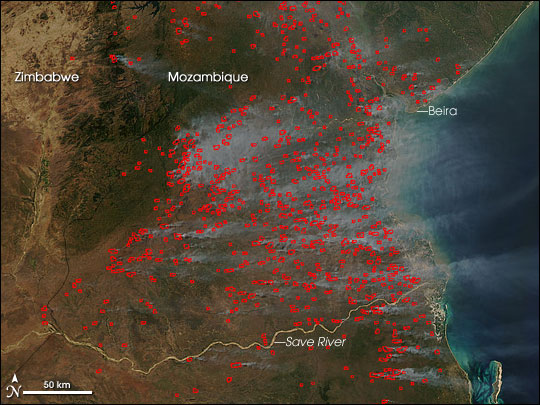 Fires in Mozambique