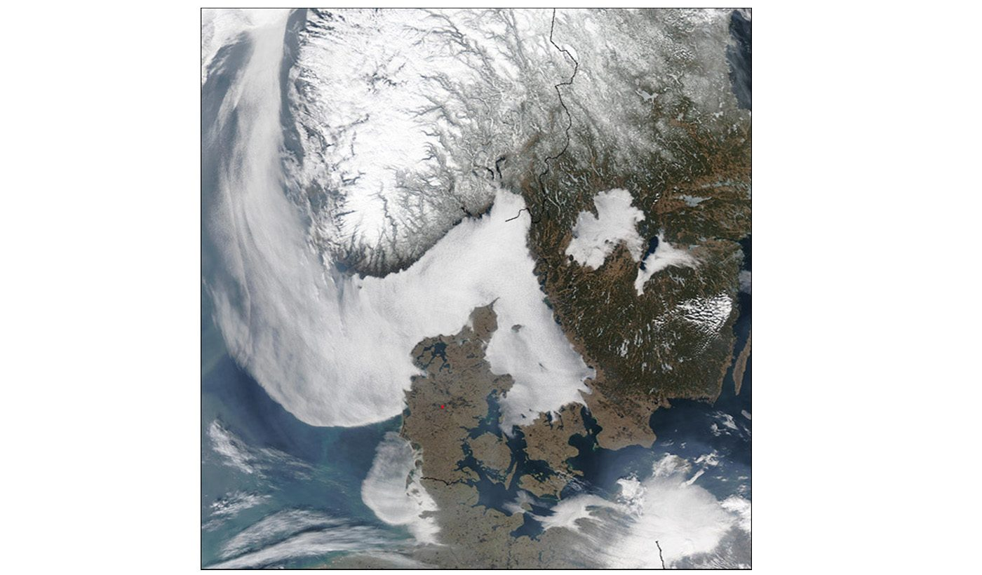 Sea Fog Around Scandinavia