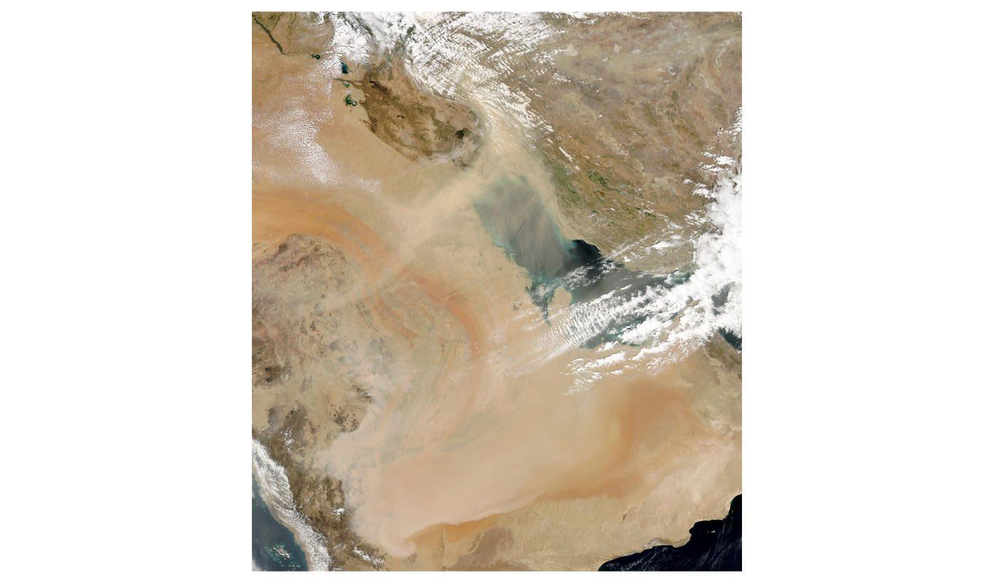 Dust Storm Across the Persian Gulf and Saudi Arabia