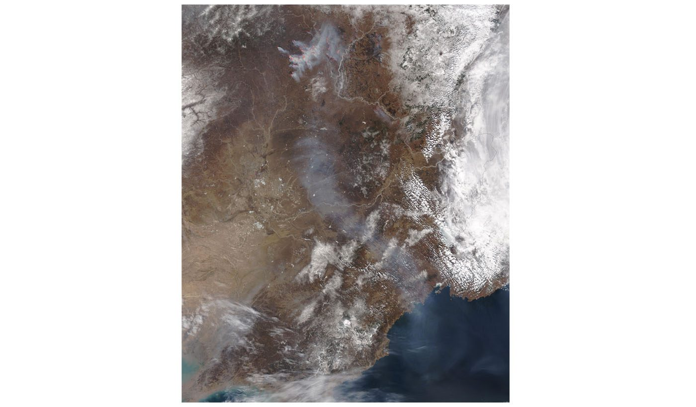 Fires and Smoke in Northern China