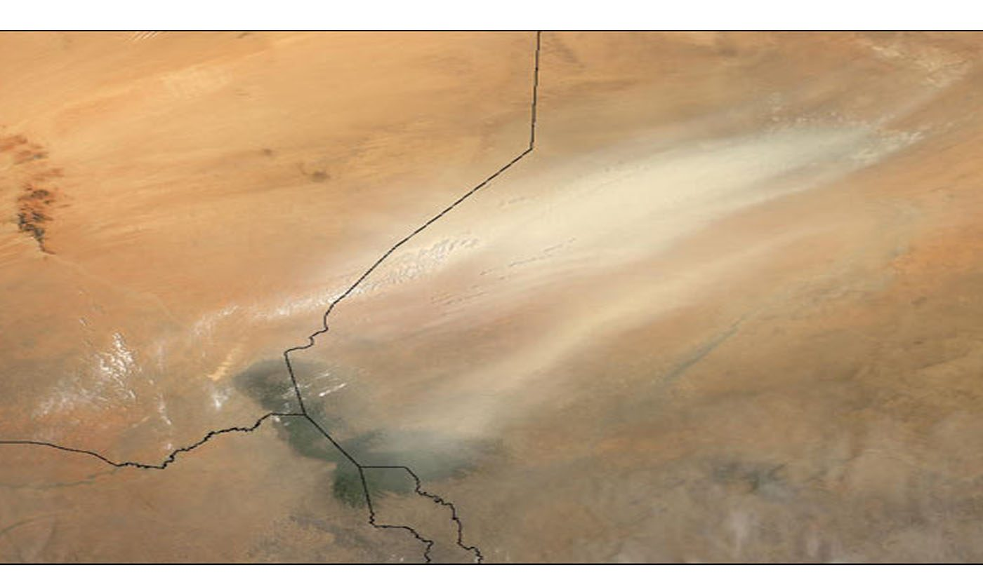 Dust Storm over Kazakhstan