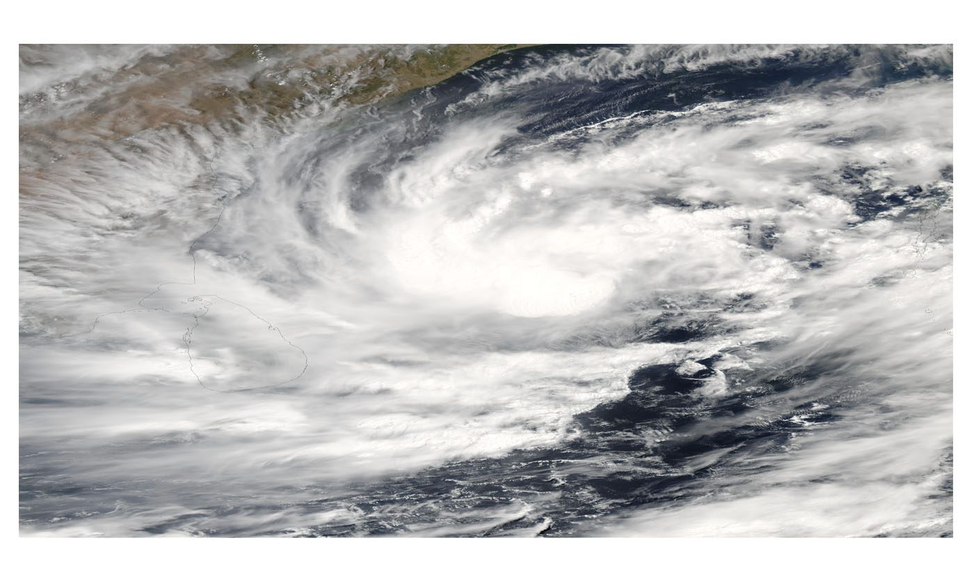 Tropical Cyclone 01B Approaching Sri Lanka and India