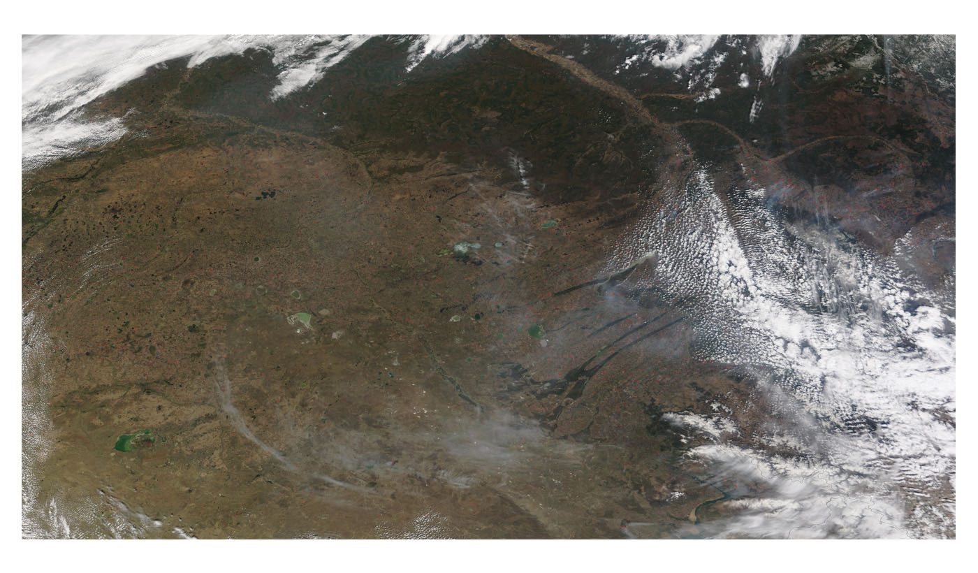 Fires in Central Asia