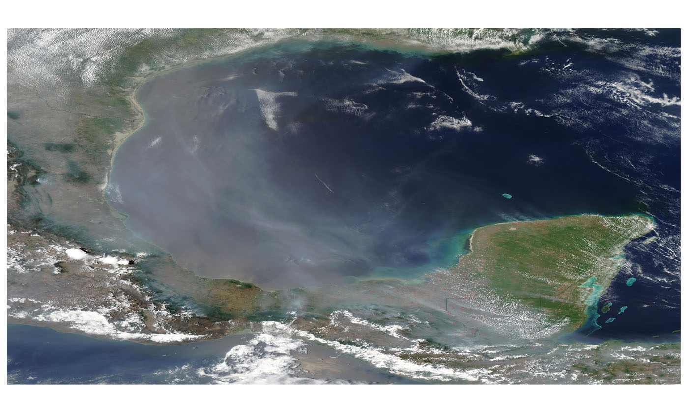 Smoke Over the Gulf of Mexico