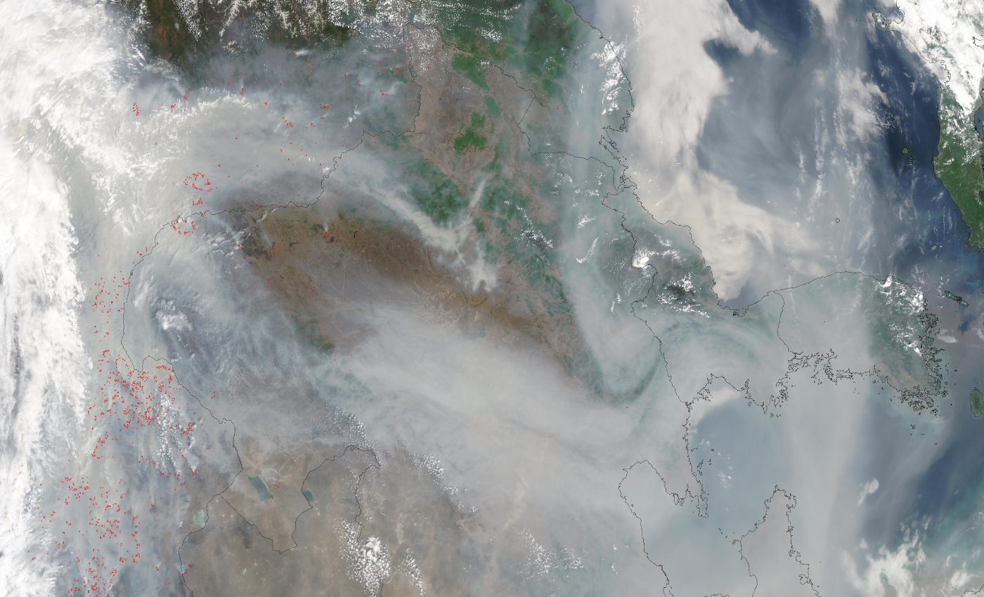 Fires and Smoke Across Eastern Asia