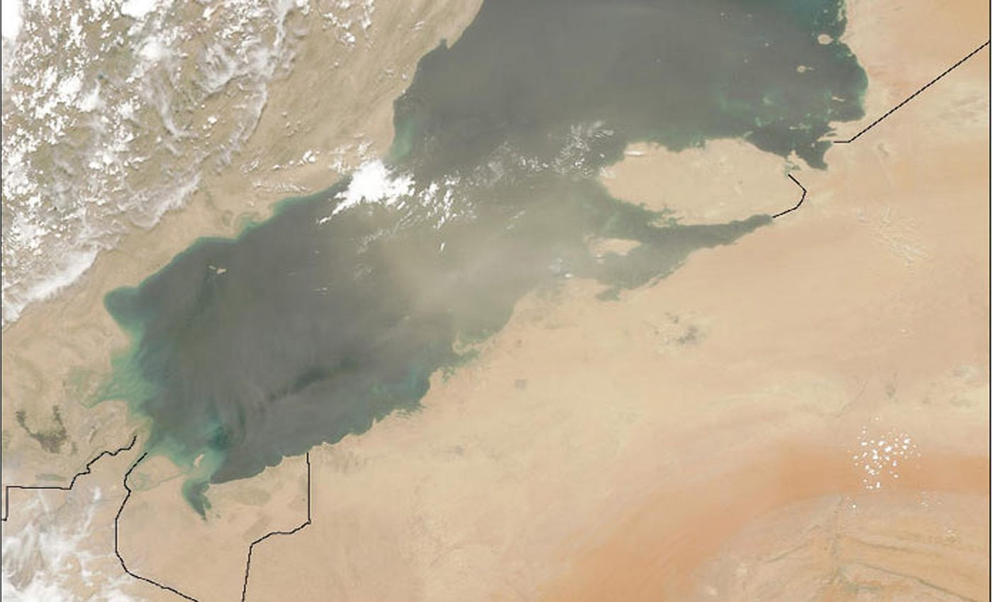 Dust Storms Over Persian Gulf