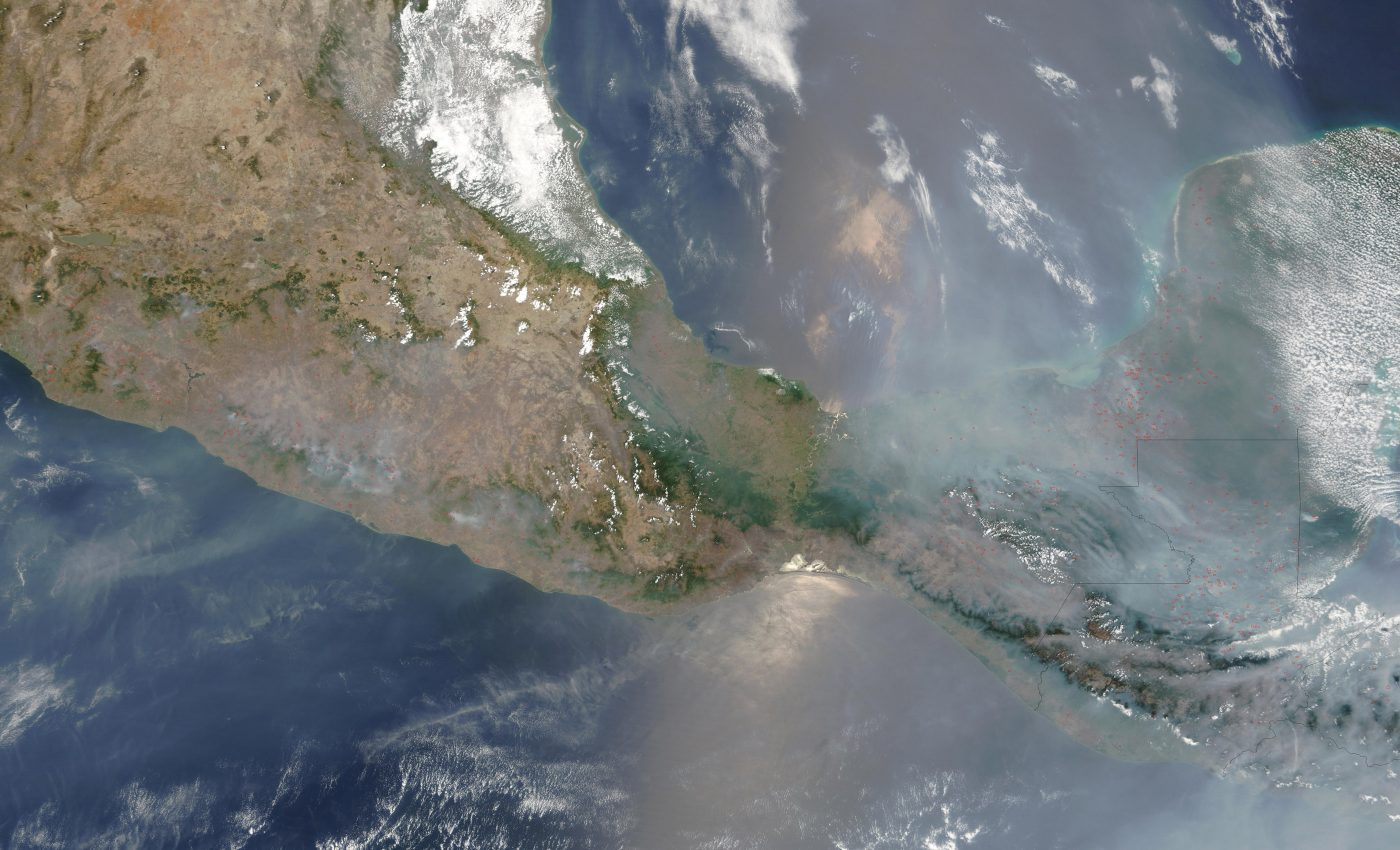 Fires and Smoke Across Southern Mexico
