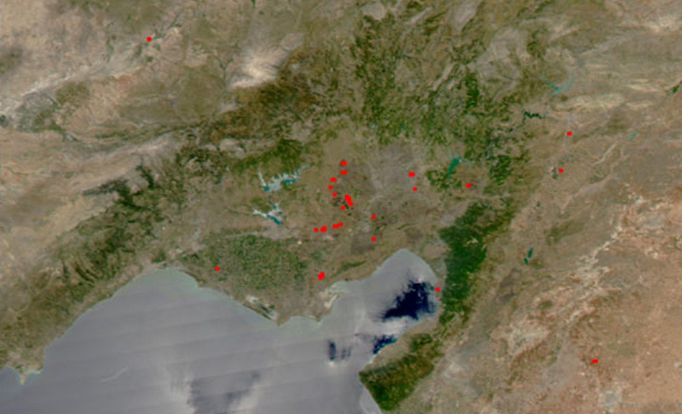 Fires in Turkey's Adana Region