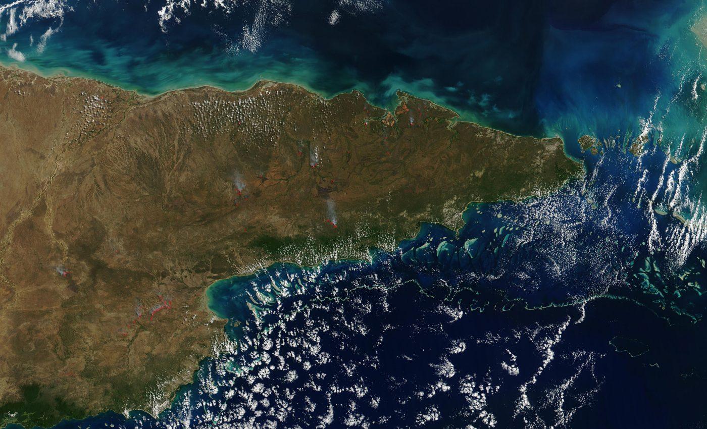 Fires Across Cape York Peninsula, Queensland, Australia