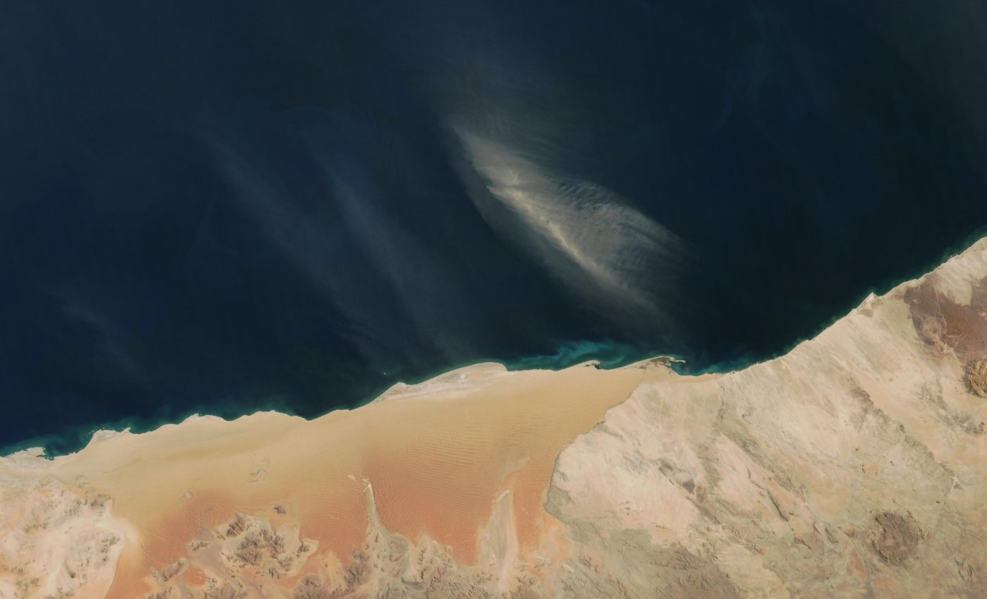 Dust Storm off Namibia